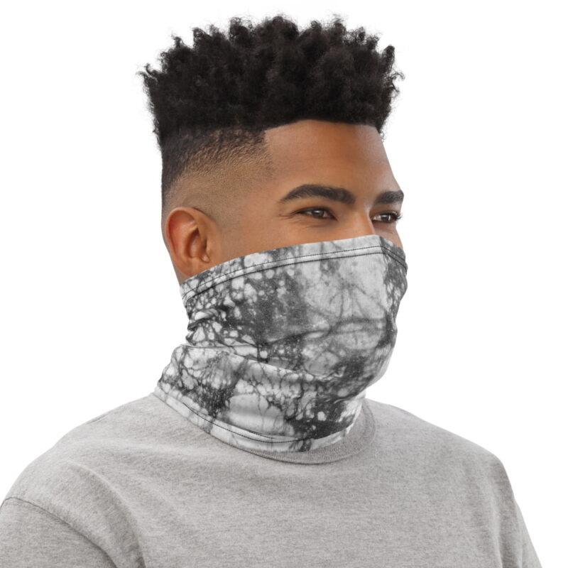 Gray Batick Tie Dye Neck Gaiter 2