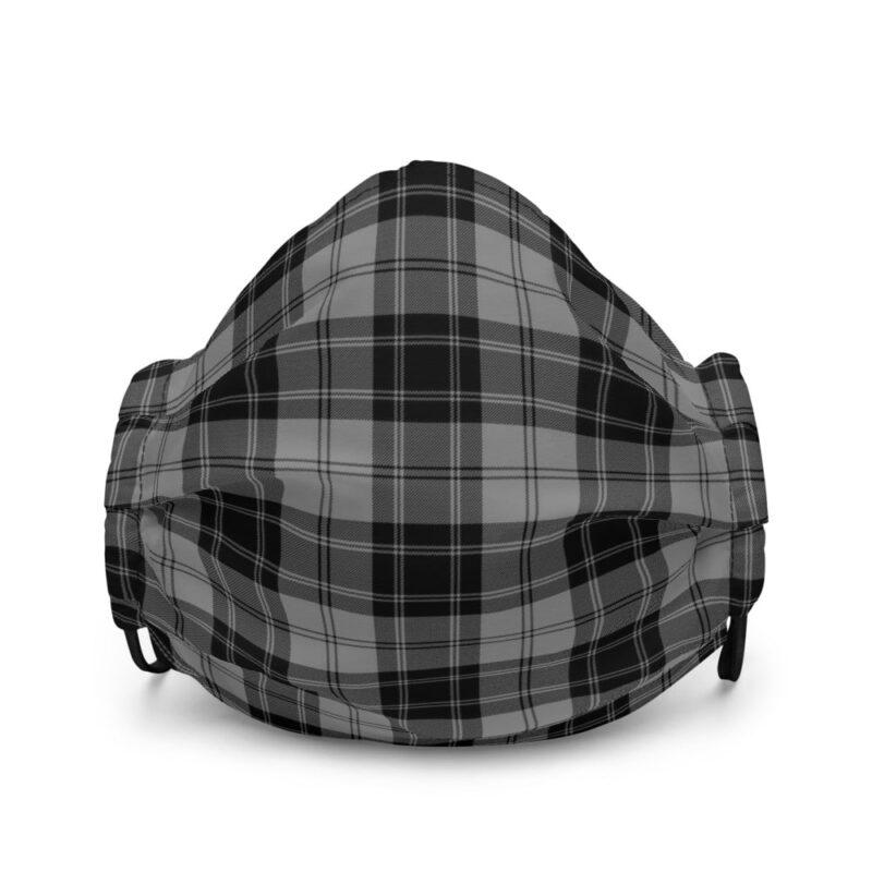 Grey Check Premium Face Mask 1
