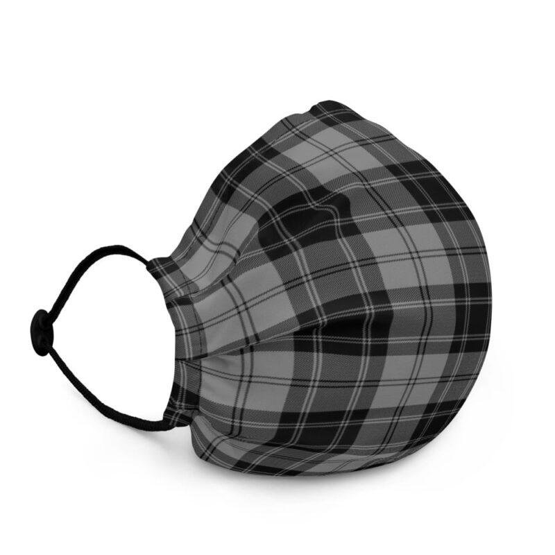 Grey Check Premium Face Mask 2