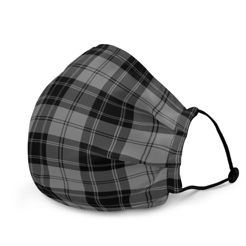 Grey Check Premium Face Mask 3