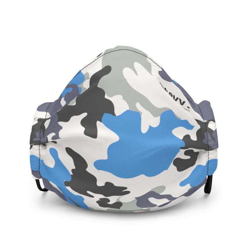 Blue Camouflage Premium Face Mask 2