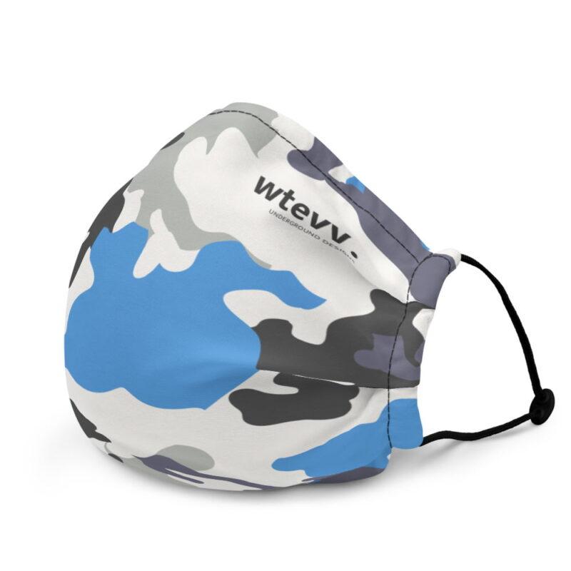 Blue Camouflage Premium Face Mask 4