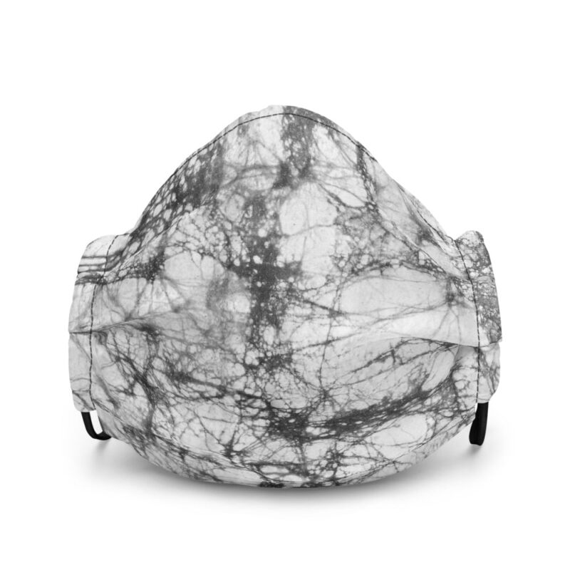 Batik Grey Tie Dye All-Over Premium Face Mask 1