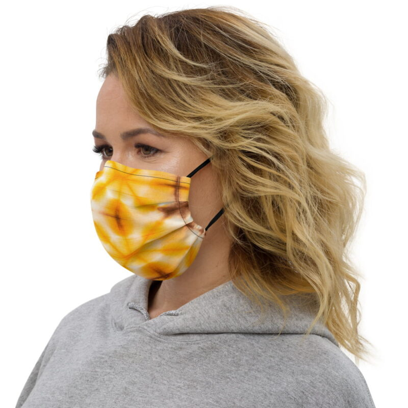 Yellow Tie Dye All-Over Premium Face Mask 2