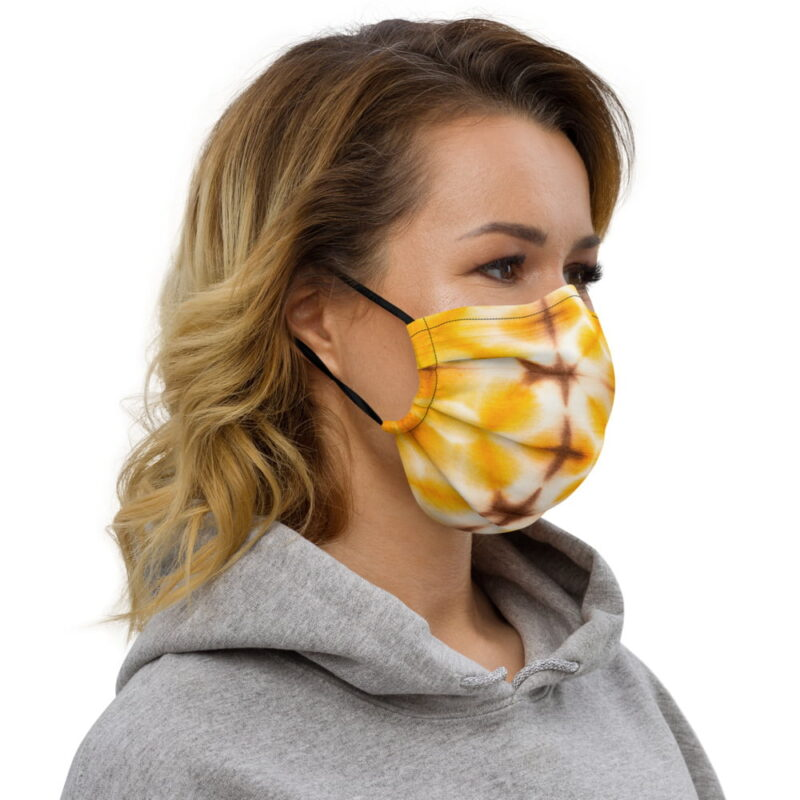 Yellow Tie Dye All-Over Premium Face Mask 3