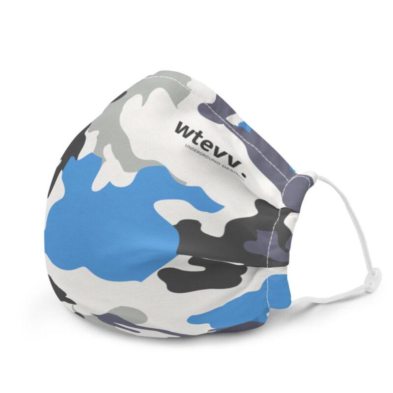 Blue Camouflage Premium Face Mask 6