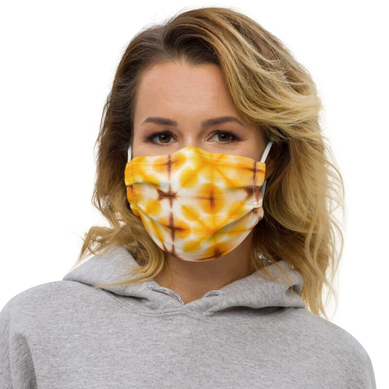 Yellow Tie Dye All-Over Premium Face Mask 4