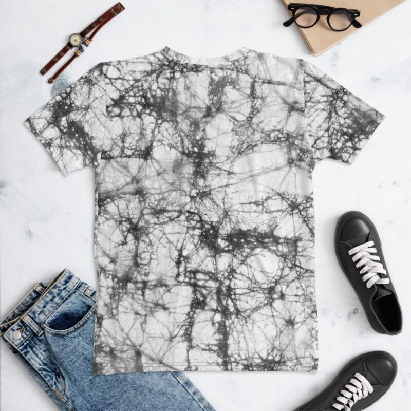Batik Tie Dye All-Over Grey Print Women's T-shirt 2