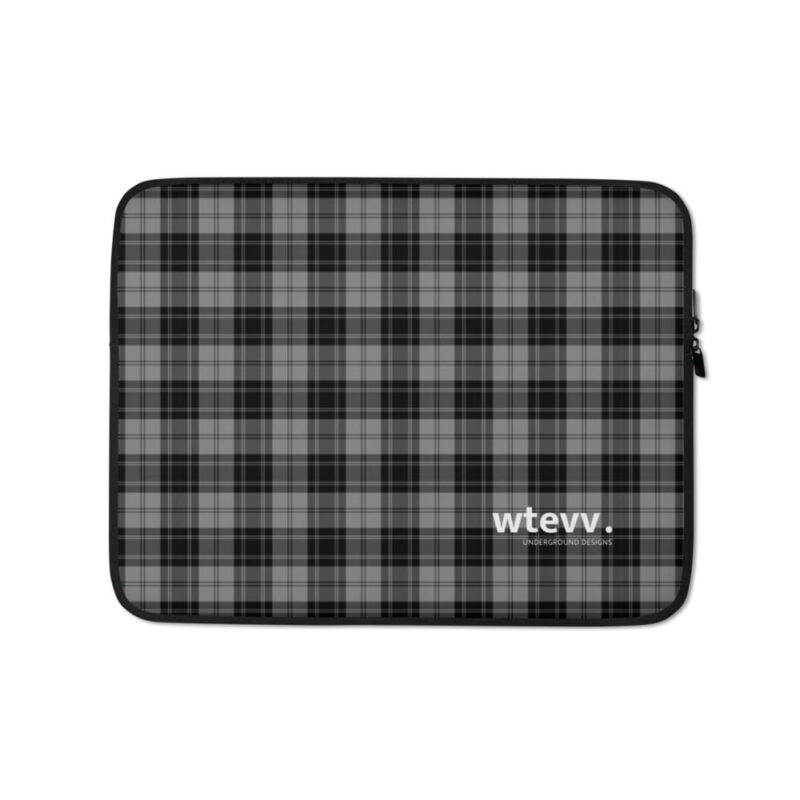 Grey Check Laptop Sleeve 1