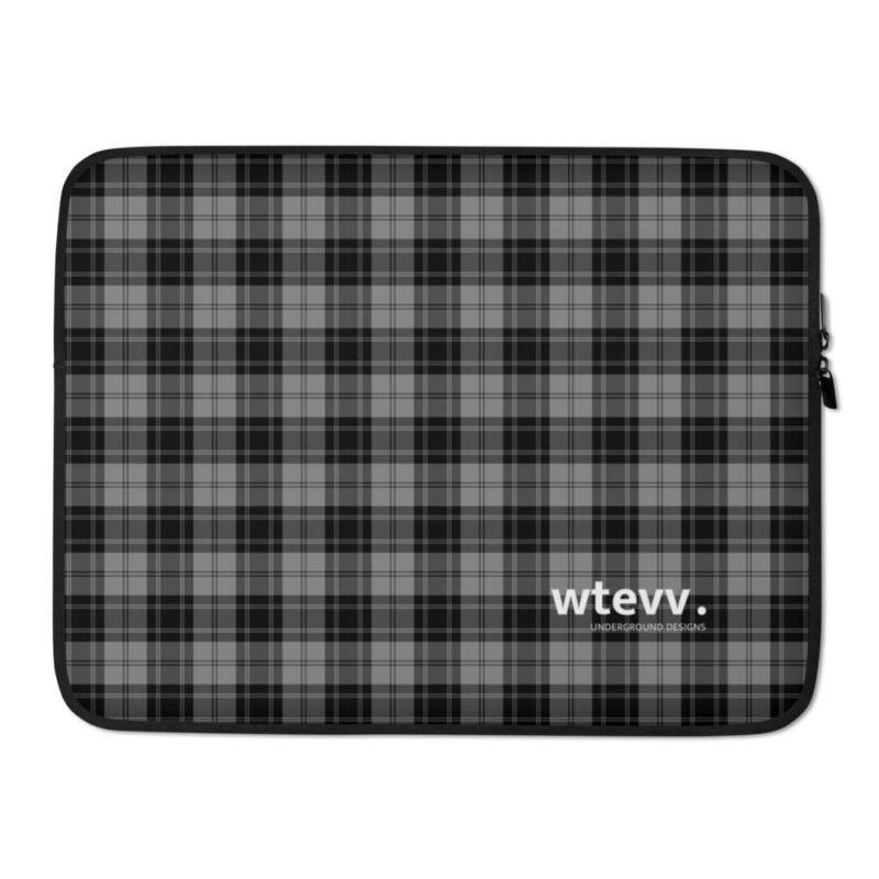 Grey Check Laptop Sleeve 2