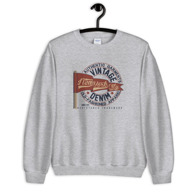 New York Vintage Denim Unisex Sweatshirt 1
