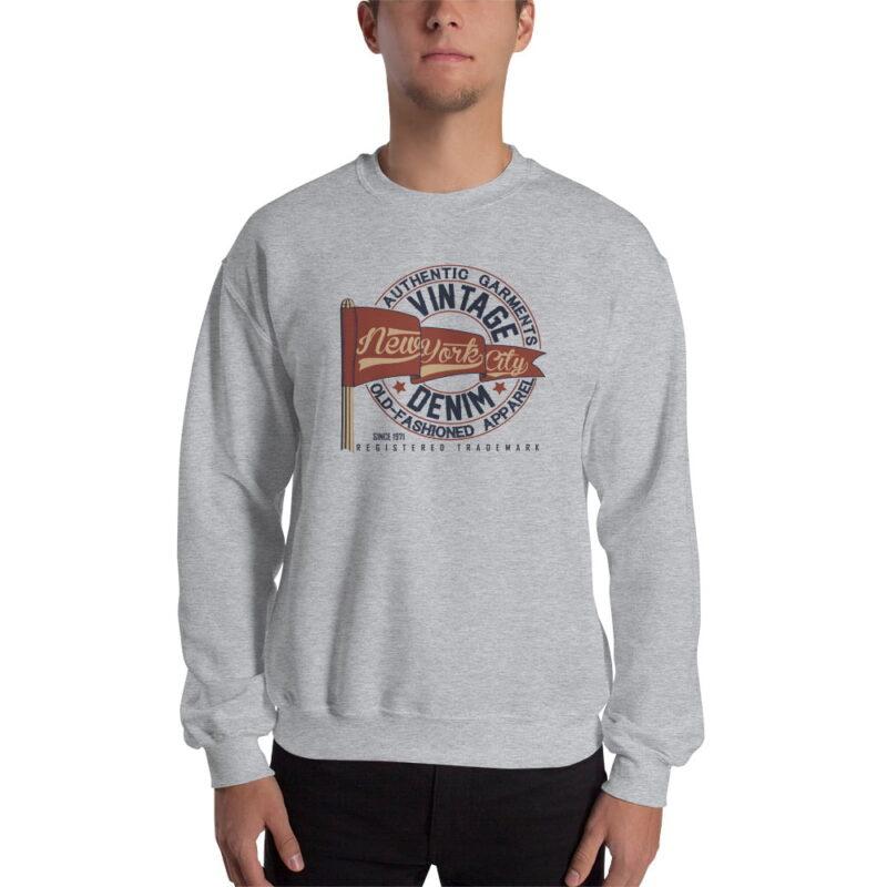 New York Vintage Denim Unisex Sweatshirt 2