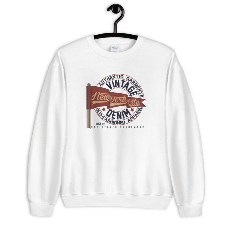 New York Vintage Denim Unisex Sweatshirt 3