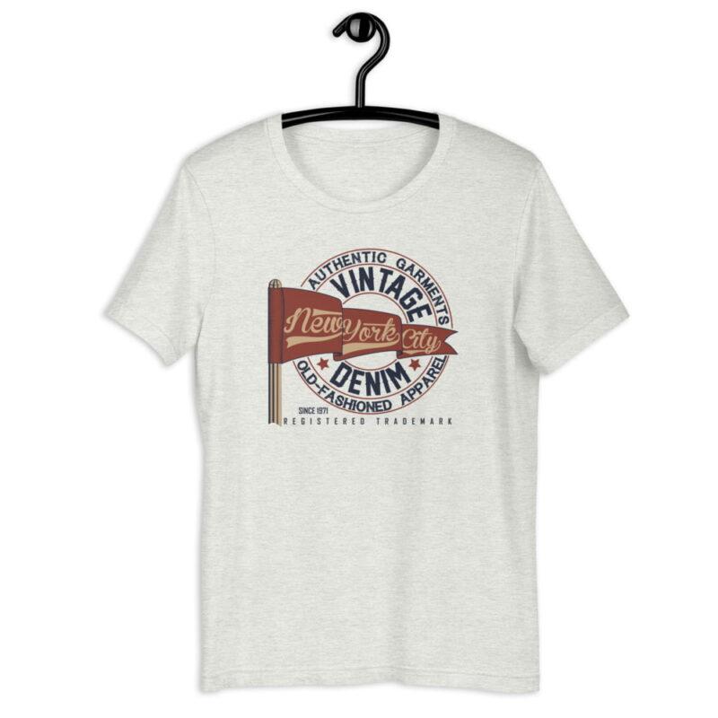 New York City Authentic Vintage Denim Unisex T-Shirt 6
