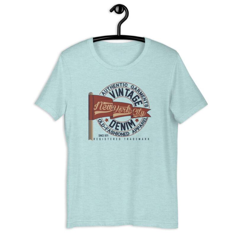 New York City Authentic Vintage Denim Unisex T-Shirt 5