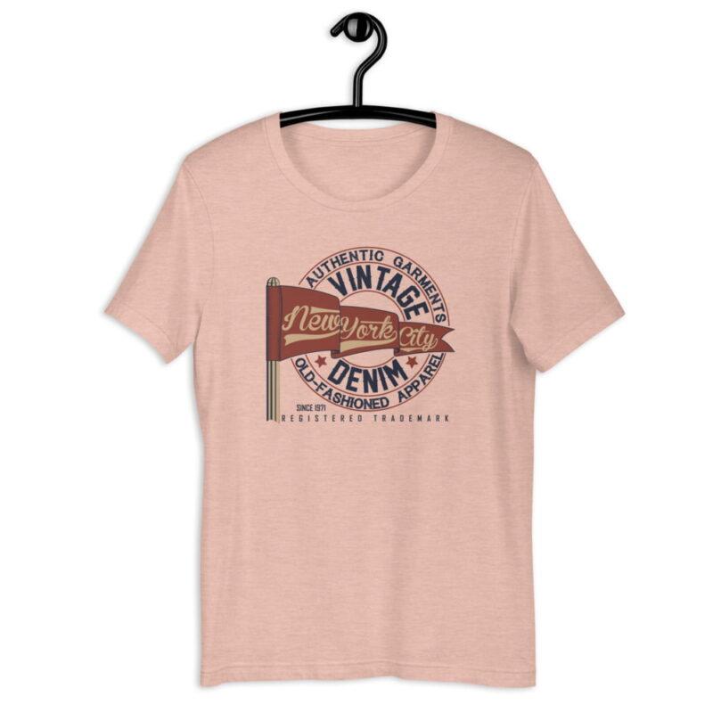 New York City Authentic Vintage Denim Unisex T-Shirt 4