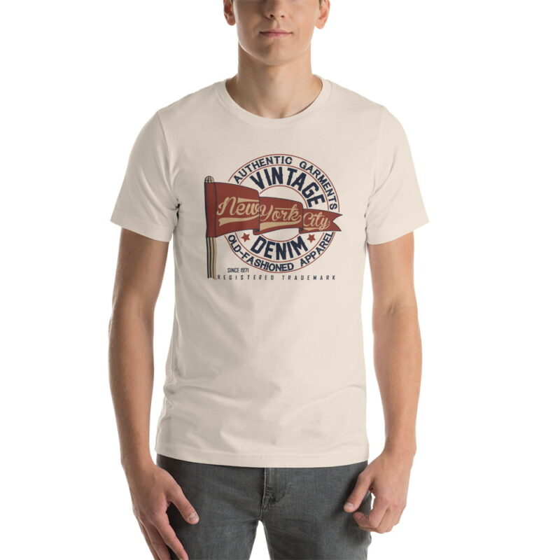 New York City Authentic Vintage Denim Unisex T-Shirt 2