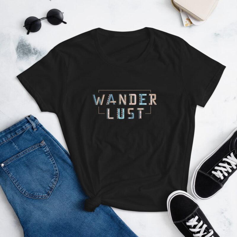Wanderlust Women's Short Sleeve Fashion Fit T-Shirt wtevv