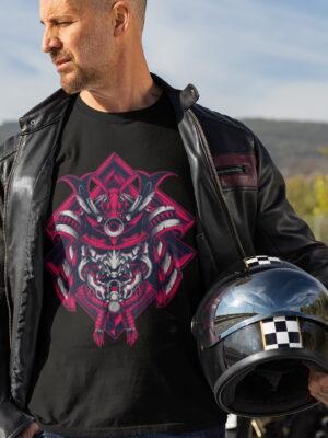 Samurai Design Short-Sleeve Unisex T-Shirt-black