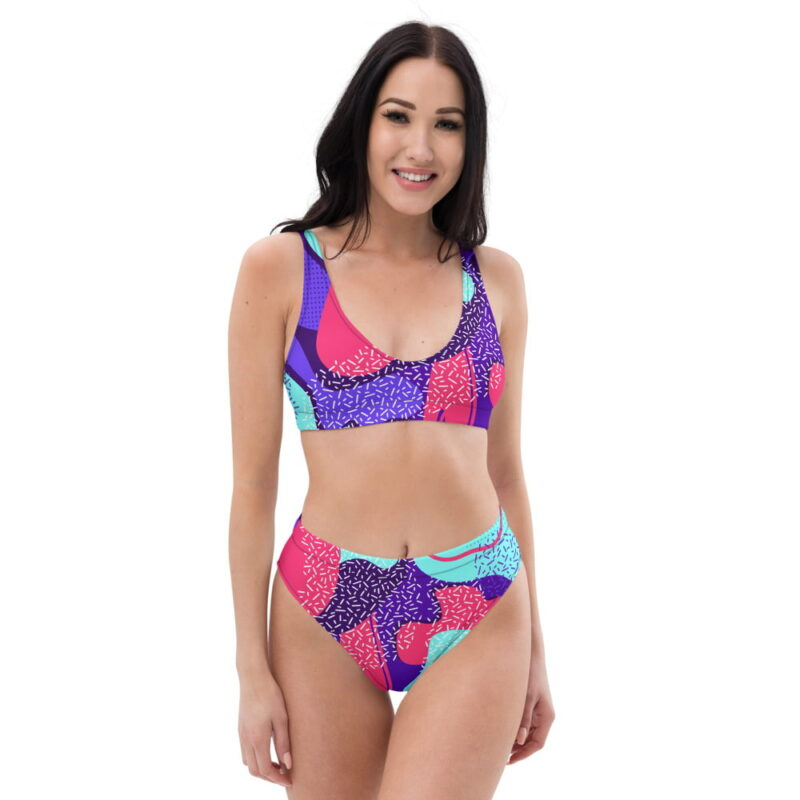 Maximalism - Recycled high-waisted bikini 1