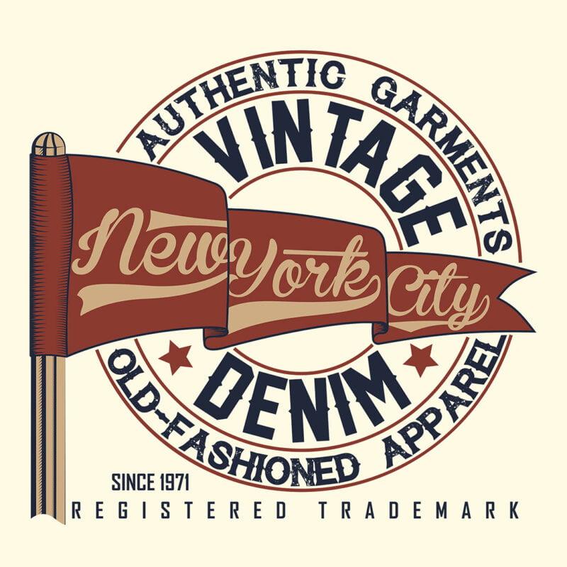 New York City Authentic Vintage Denim Unisex T-Shirt 1