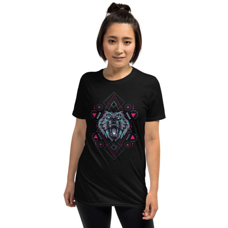 Bear Geometry Design Short-Sleeve Unisex T-Shirt 5