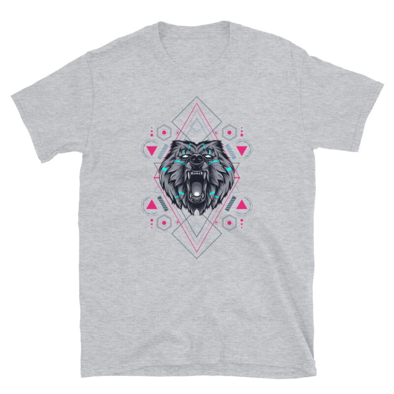 Bear Geometry Design Short-Sleeve Unisex T-Shirt 3