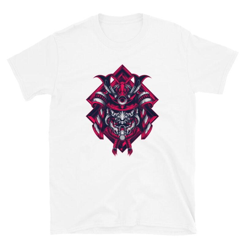 Samurai Design Short-Sleeve Unisex T-Shirt in Navy Black and White 6