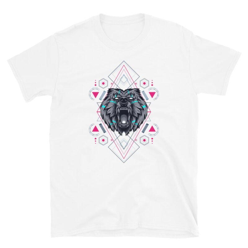 Bear Geometry Design Short-Sleeve Unisex T-Shirt 4