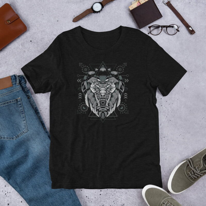 Lion-Armoured-Robot-Short-Sleeve-Unisex-T-Shirt