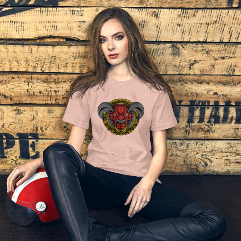 Bull Art with Golden Details Short-Sleeve Unisex T-Shirt 1