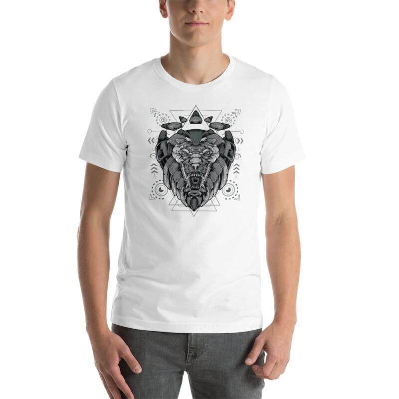 Lion-Armoured-Robot-Short-Sleeve-Unisex-T-Shirt-men