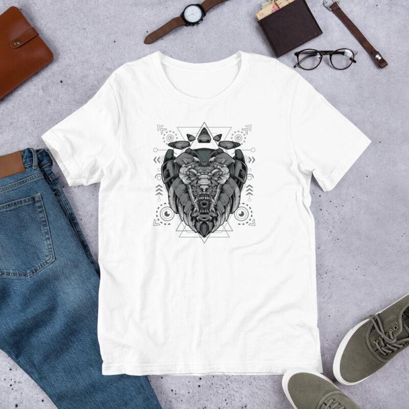 Lion Armoured Robot Short-Sleeve Unisex T-Shirt 1