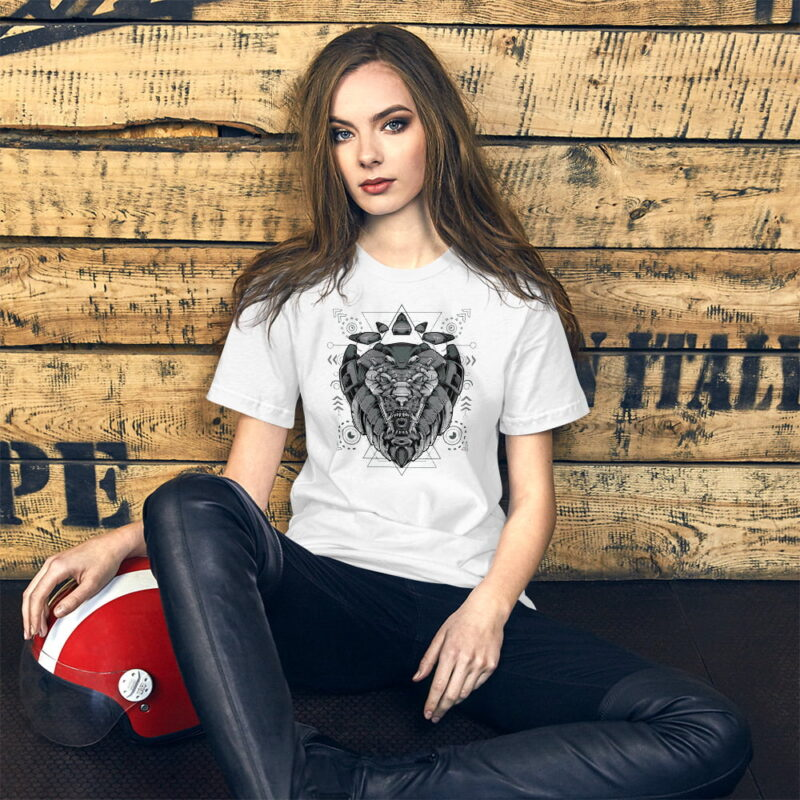 Lion-Armoured-Robot-Short-Sleeve-Unisex-T-Shirt-women