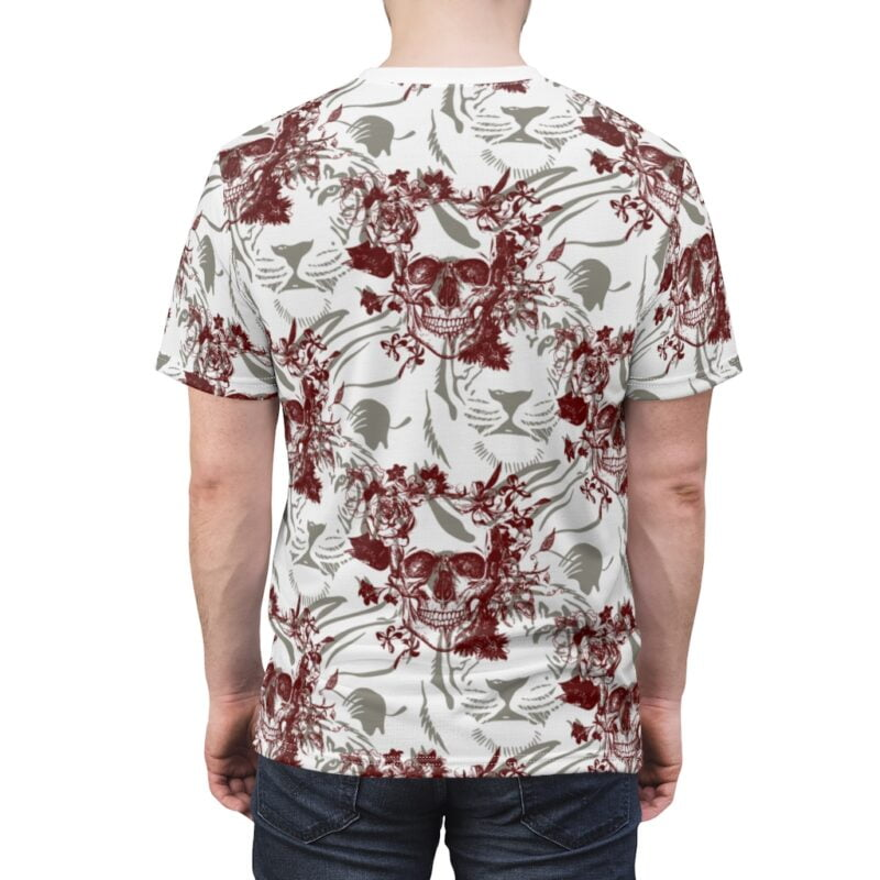 Skull and Tiger Unisex AOP Cut & Sew Tee 6