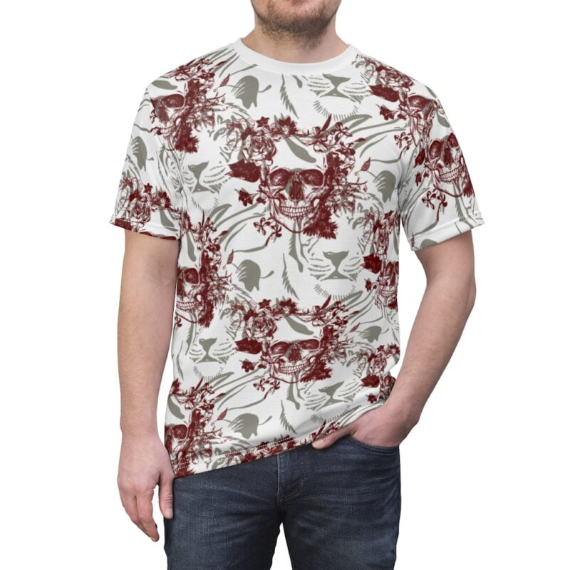 Skull and Tiger Unisex AOP Cut & Sew Tee 1