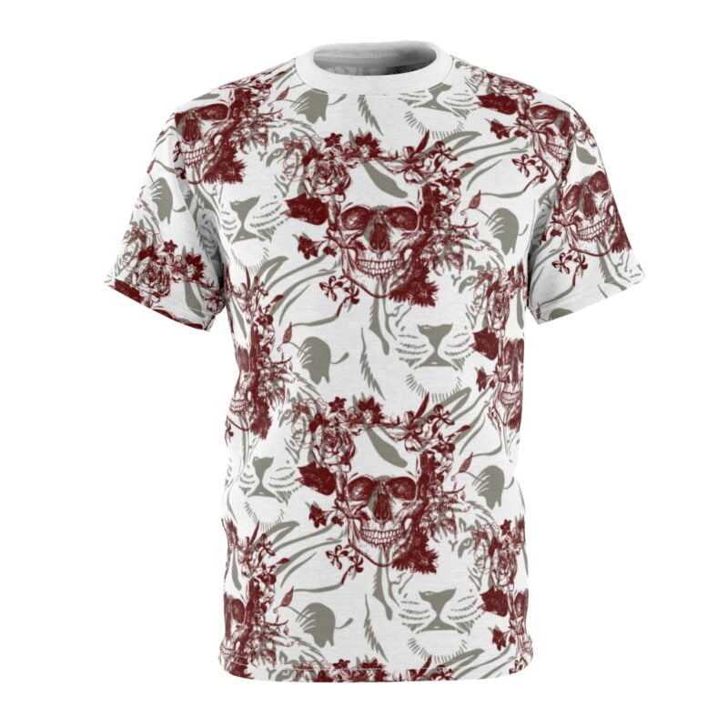 Skull and Tiger Unisex AOP Cut & Sew Tee 2