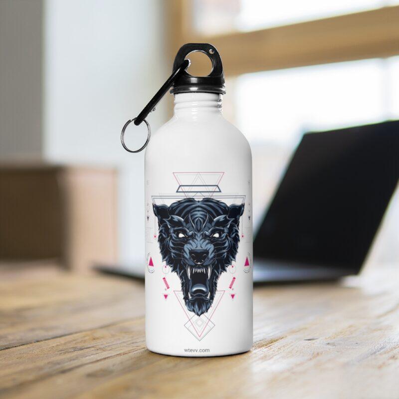 Wolf Geometry Design Stainless Steel Water Bottle 4