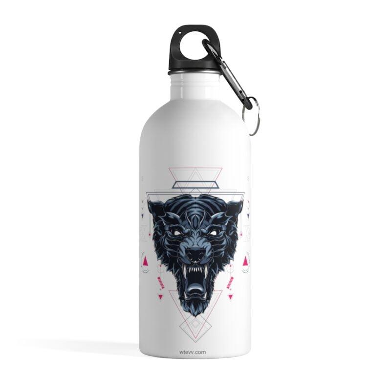 Wolf Geometry Design Stainless Steel Water Bottle 1