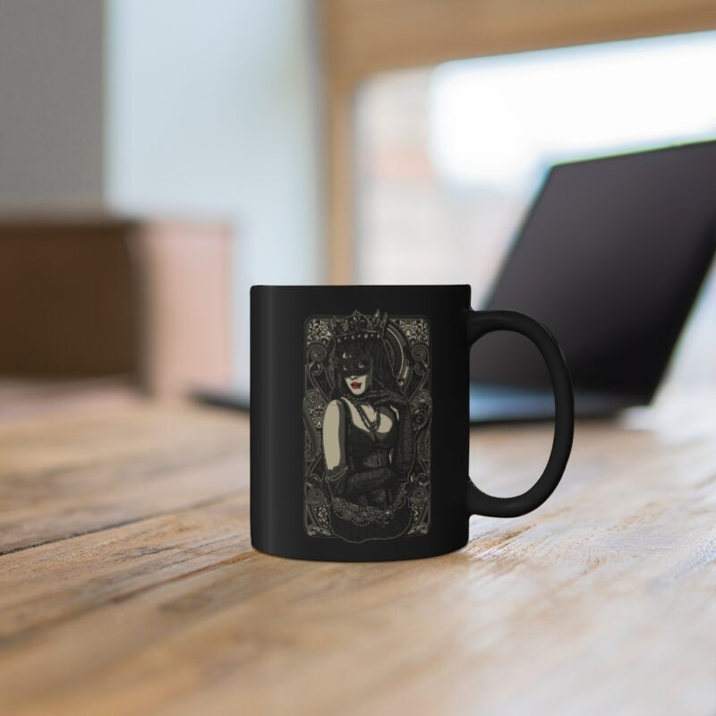 The Queen Tattoo Ink Black mug 11oz 3