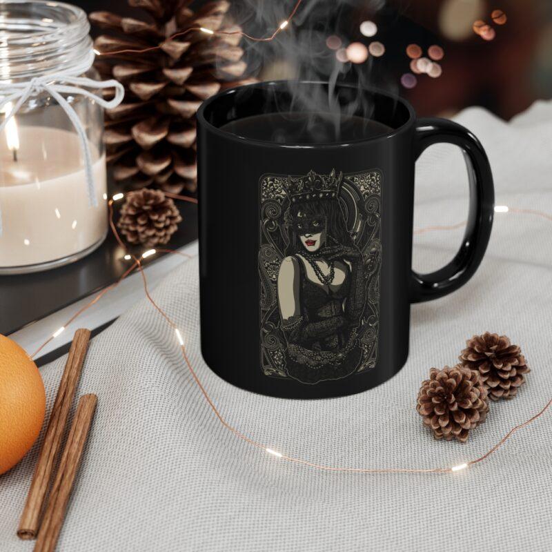 The Queen Tattoo Ink Black mug 11oz 2