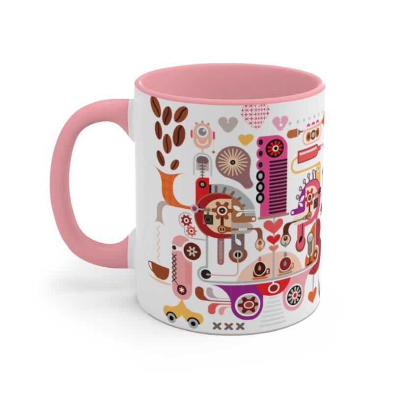 Coffee Shop Abstract Modern Art Accent Mug 1