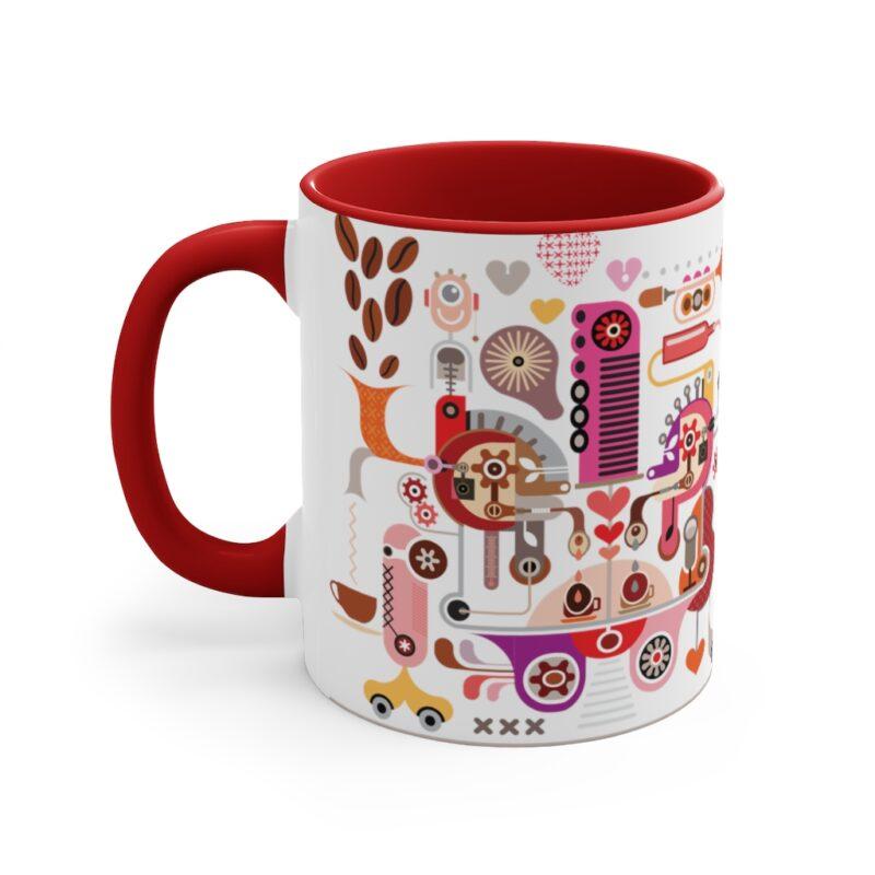 Coffee Shop Abstract Modern Art Accent Mug 18