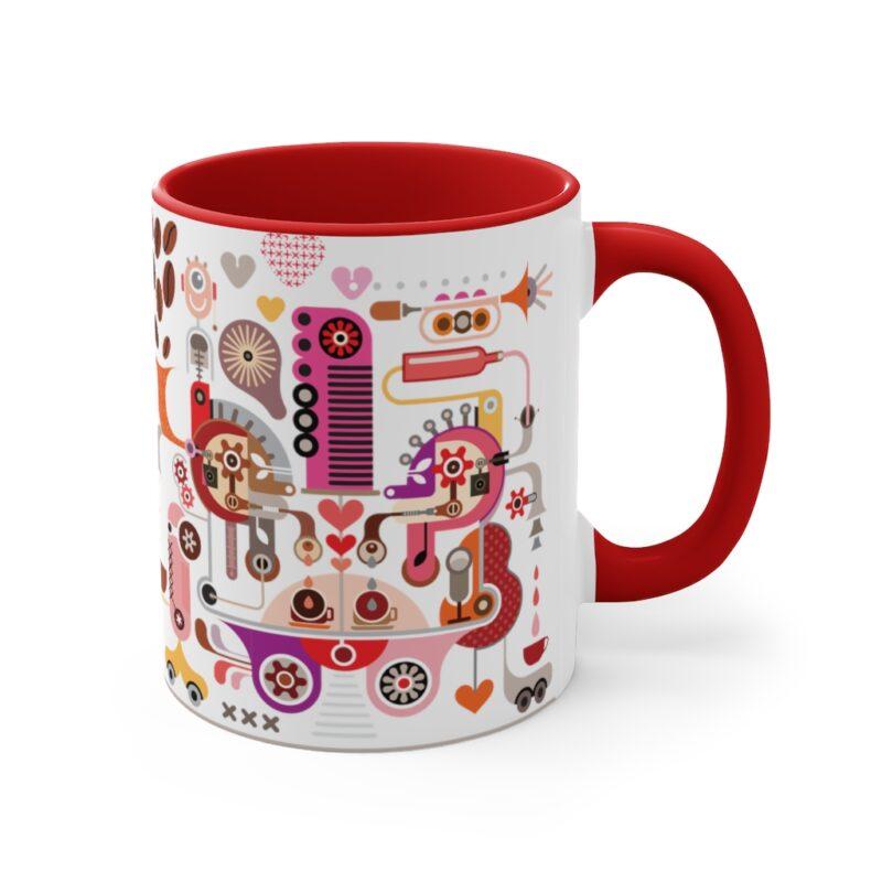Coffee Shop Abstract Modern Art Accent Mug 19