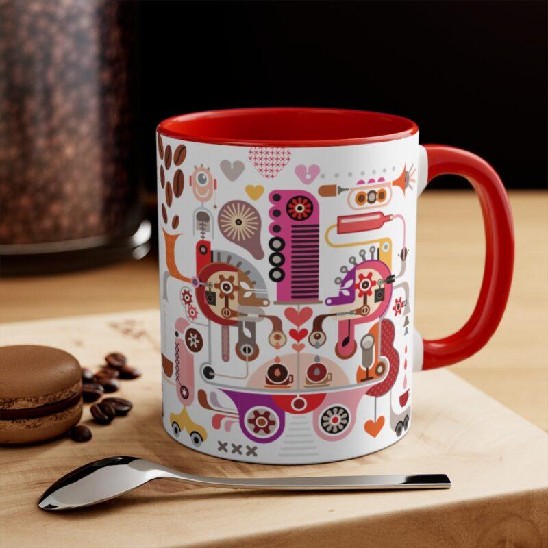 Coffee Shop Abstract Modern Art Accent Mug 20