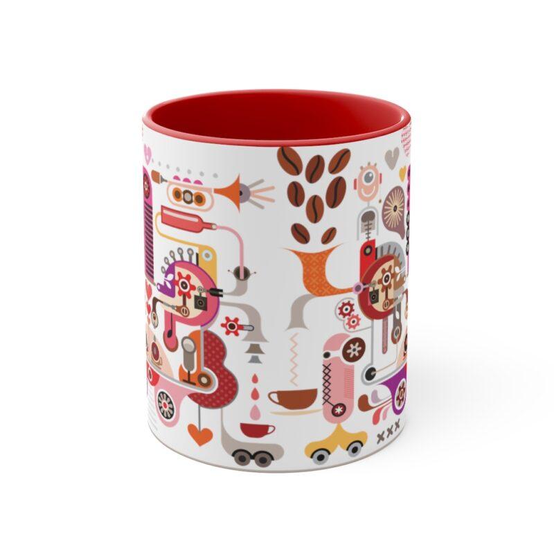 Coffee Shop Abstract Modern Art Accent Mug 17