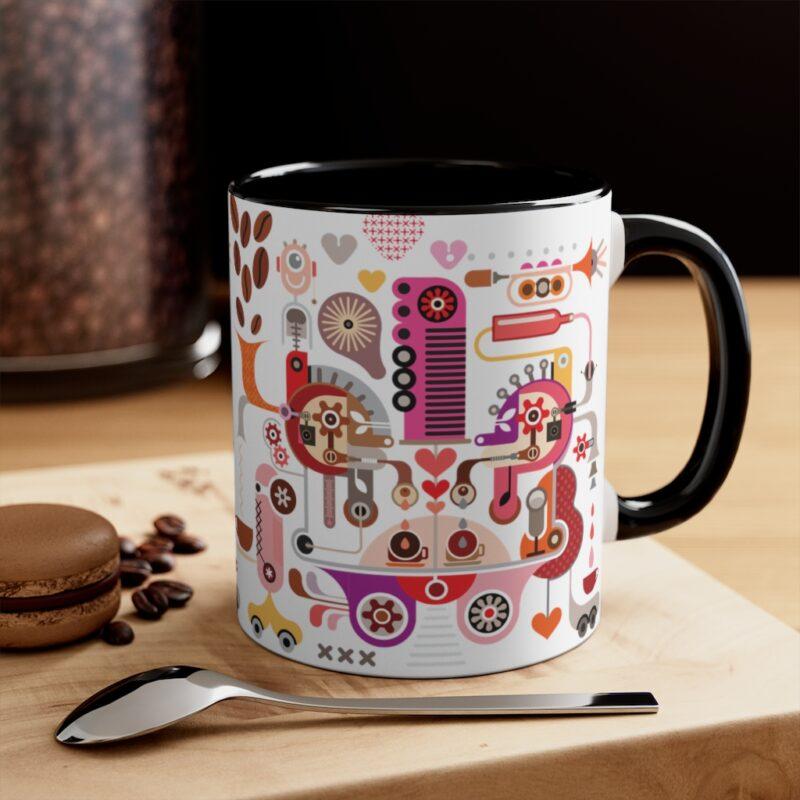 Coffee Shop Abstract Modern Art Accent Mug 24