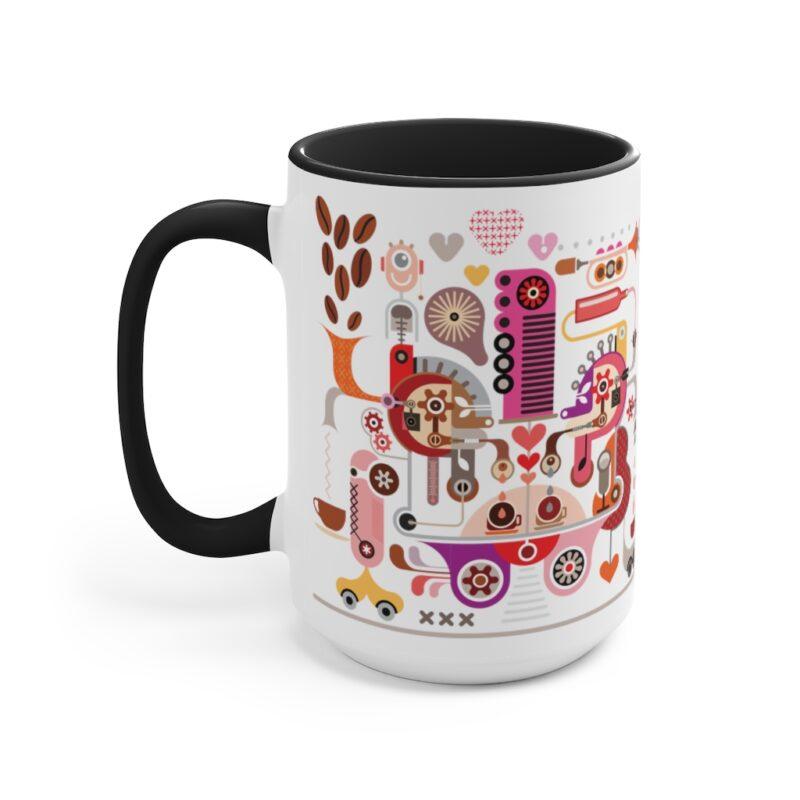 Coffee Shop Abstract Modern Art Accent Mug 6