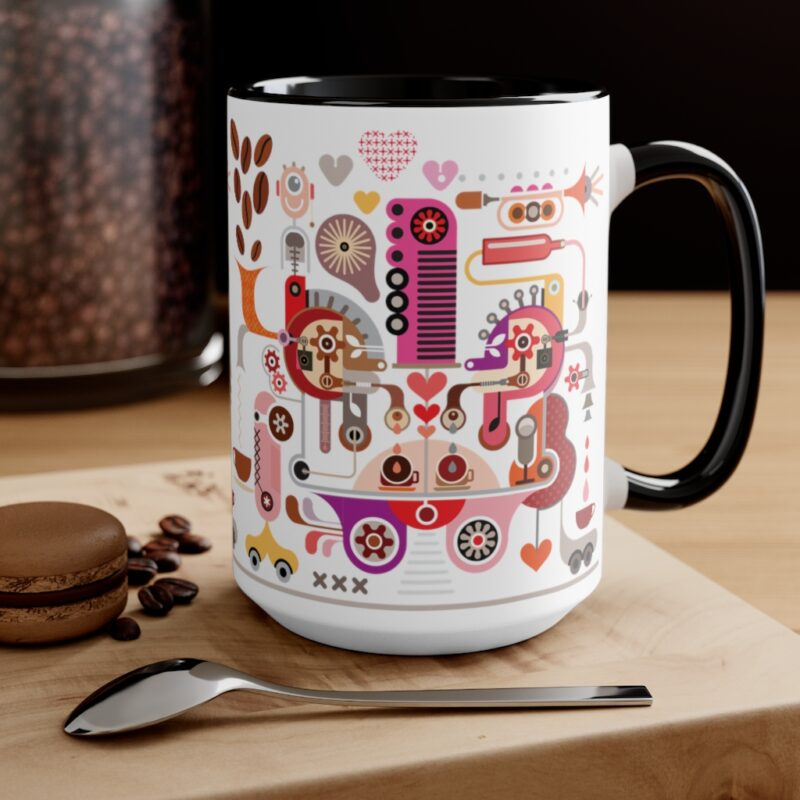 Coffee Shop Abstract Modern Art Accent Mug 8