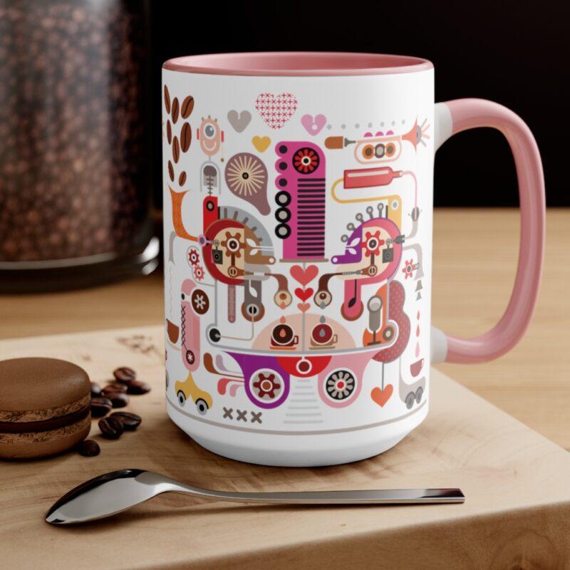Coffee Shop Abstract Modern Art Accent Mug 4